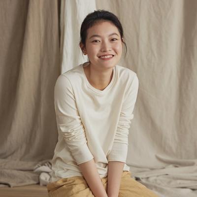 旅途原品_原野_原創設計針織純棉基礎T恤(圓領) -綠/乳白/咖啡
