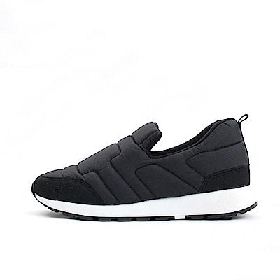 【AIRKOREA韓國空運】正韓鋪棉幾合縫線休閒懶人便鞋-黑