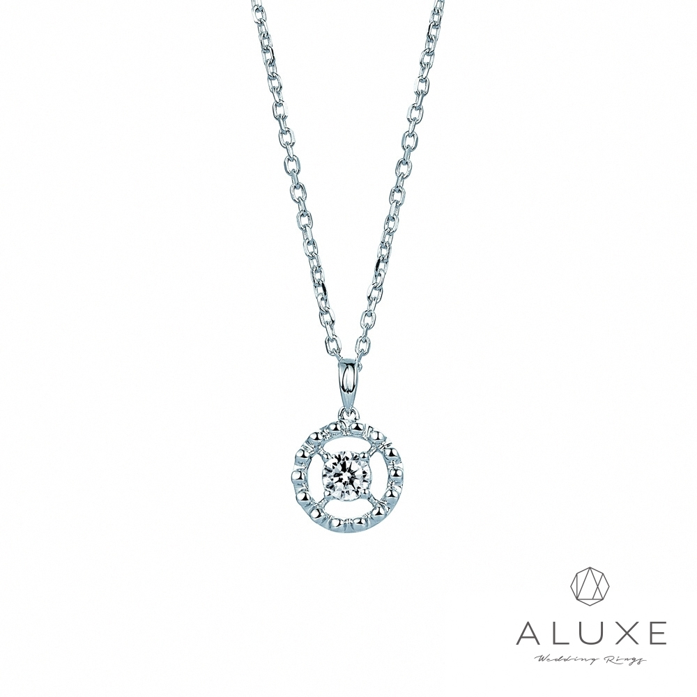 ALUXE亞立詩 EMBRACE系列 18K金鑽石項鍊