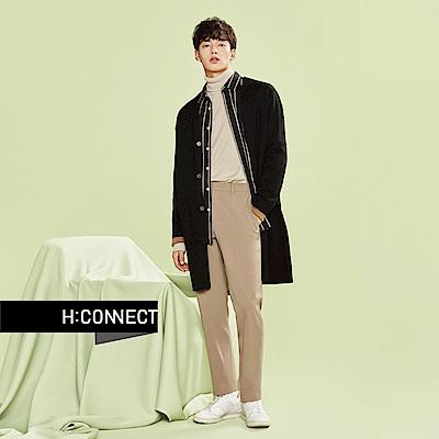 H:CONNECT 韓國品牌 男裝-棉質直條紋襯衫-黑