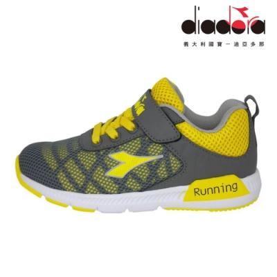 Diadora 兒童慢跑鞋 中童 超寬楦 灰 DA9AKC7178