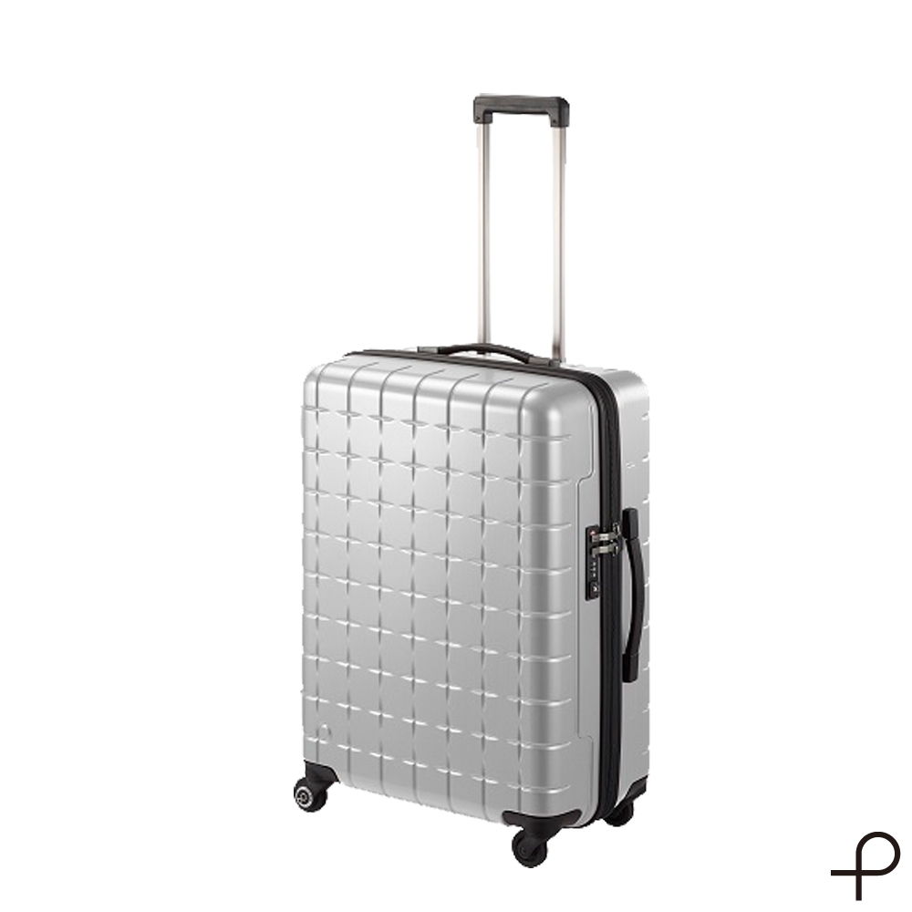【日本製造PROTECA行李箱】開輝系列26吋-360°自由取物行李箱(銀色)
