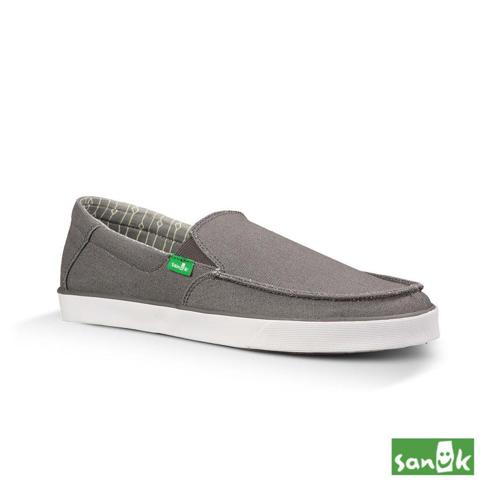 SANUK 窄版素面內印花休閒鞋-男款(灰色)SMF10668 CHRC