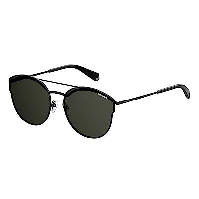 Polaroid PLD 4057/S-中性薄框太陽眼鏡 黑色