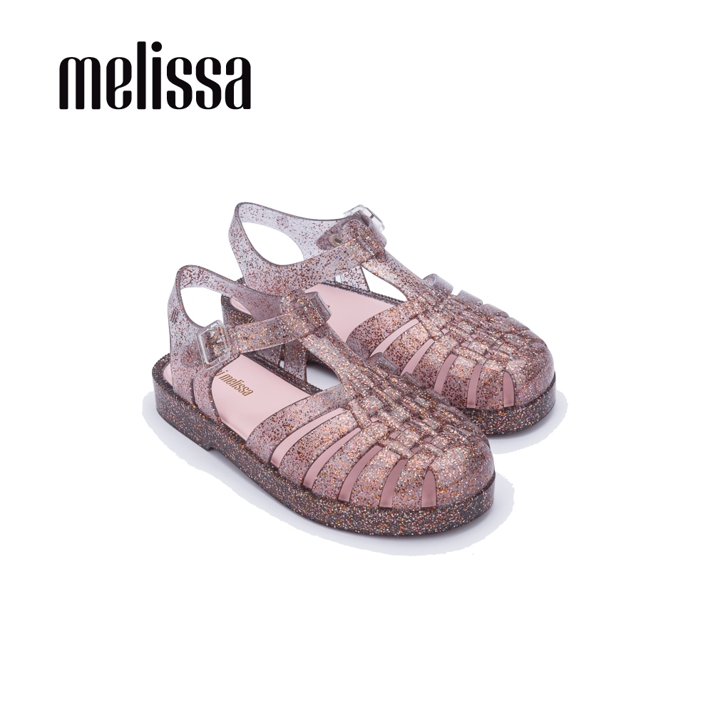 Melissa 閃耀果凍漁夫鞋 兒童款 閃耀藕