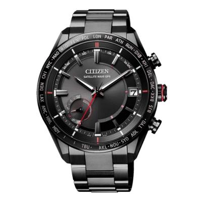 CITIZEN GENT S光動能商務時尚腕錶-黑(CC3085-51E)/44mm