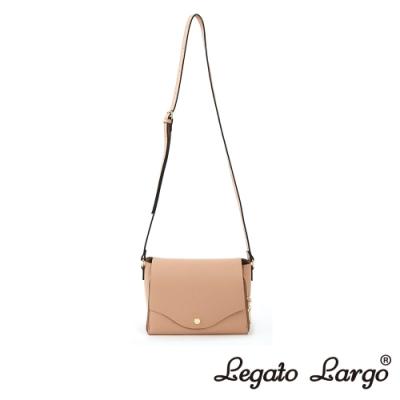 Legato Largo 驚異的輕量化 小法式極簡時尚 兩用皮夾斜背包 櫻花粉