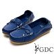 GDC-真皮舒適素色基本蝴蝶結綁帶休閒鞋-藍色 product thumbnail 1