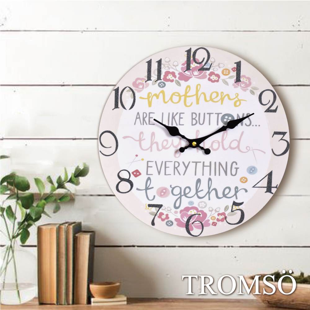 TROMSO無框畫時鐘-繽紛生活(圓形)