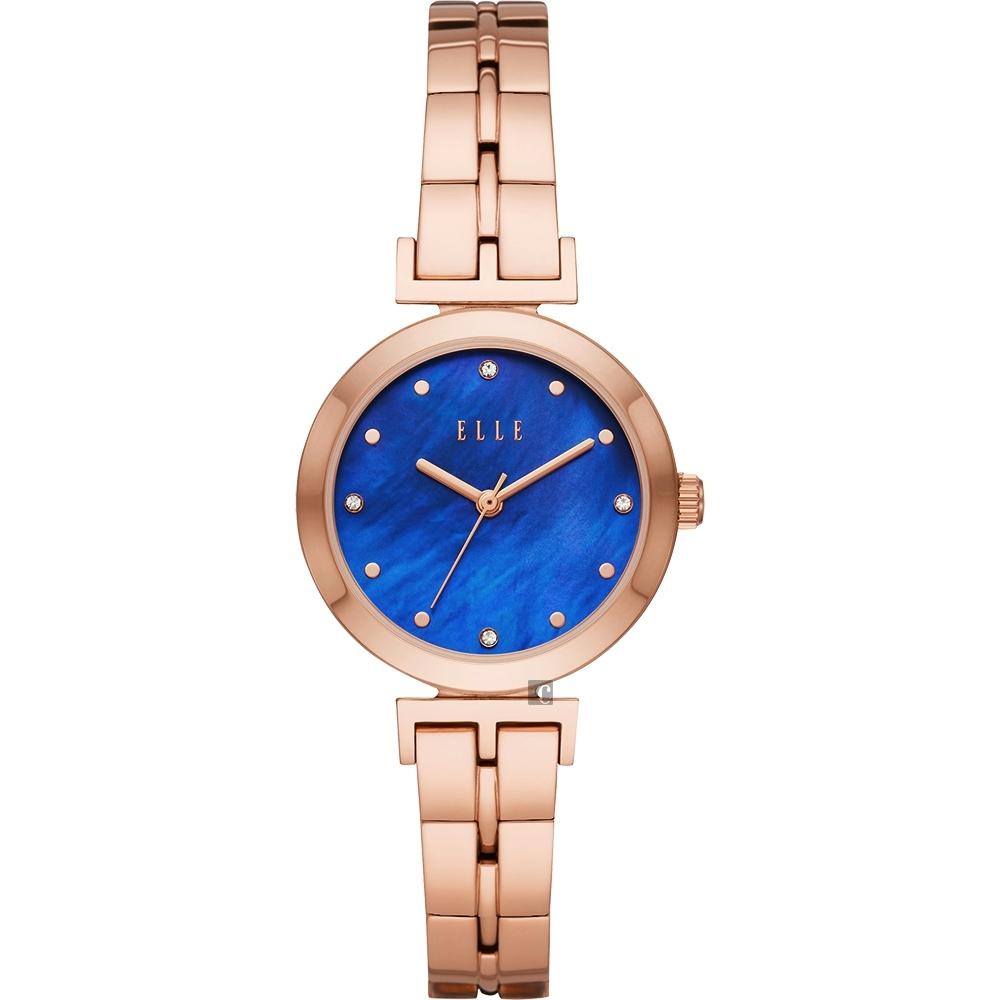 ELLE ODEON 系列優雅小錶徑女錶-珍珠貝x玫塊金/30mm ELL21010