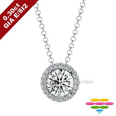 彩糖鑽工坊 GIA鑽石 30分 E/SI2 3EX車工 鑽石項鍊
