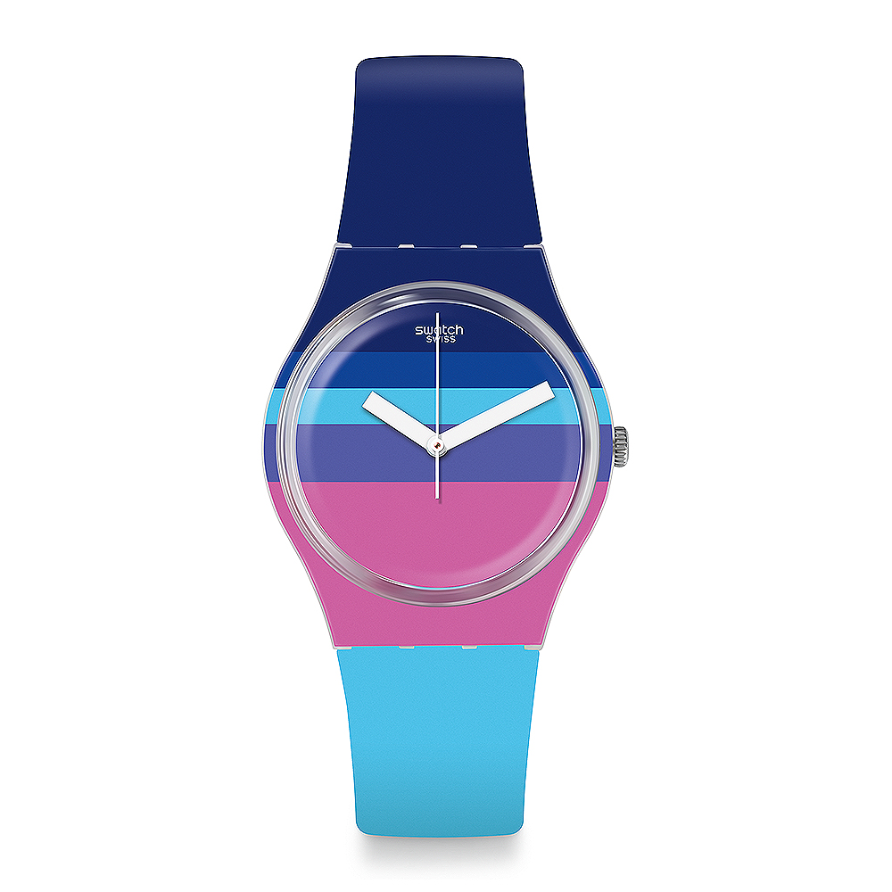 Swatch THINK FUN系列 AZUL'HEURE 俏皮藍彩手錶 product image 1
