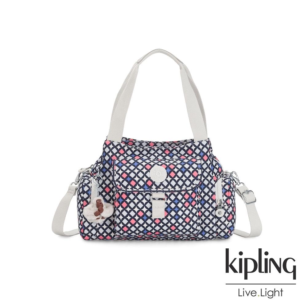 Kipling 華麗閃耀繽紛好收納手提兩用斜背包-FELIX L