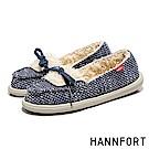 HANNFORT COZY毛呢珊瑚絨樂福鞋-女-深海藍
