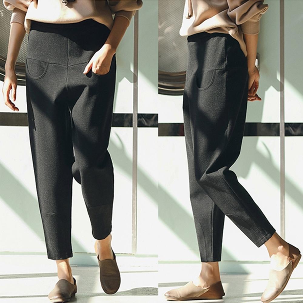 休閒褲-遮肉顯瘦的一款前插兜香蕉褲-設計所在