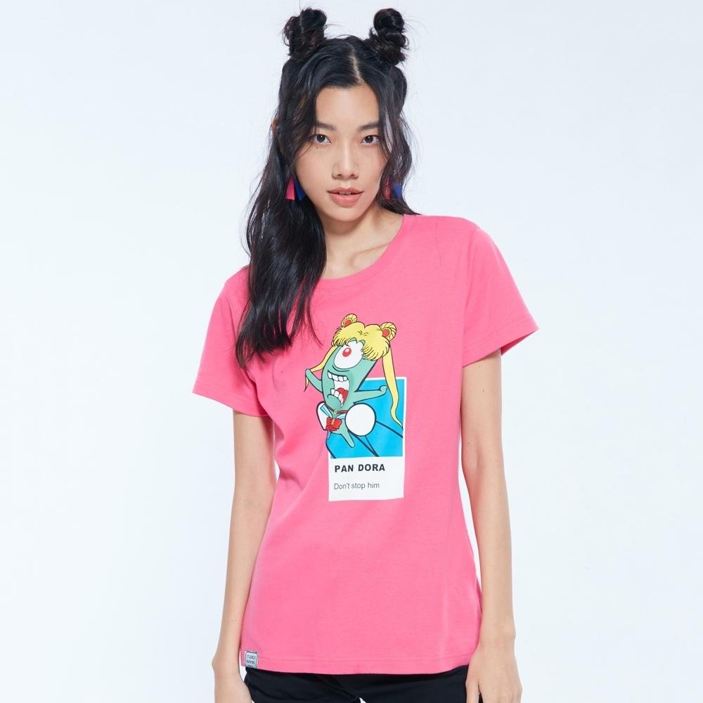 UDOU 替月亮懲罰你_潘多拉!短袖T恤(粉)