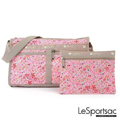 LeSportsac - Standard雙口袋斜背包-附化妝包(桃之夭夭)