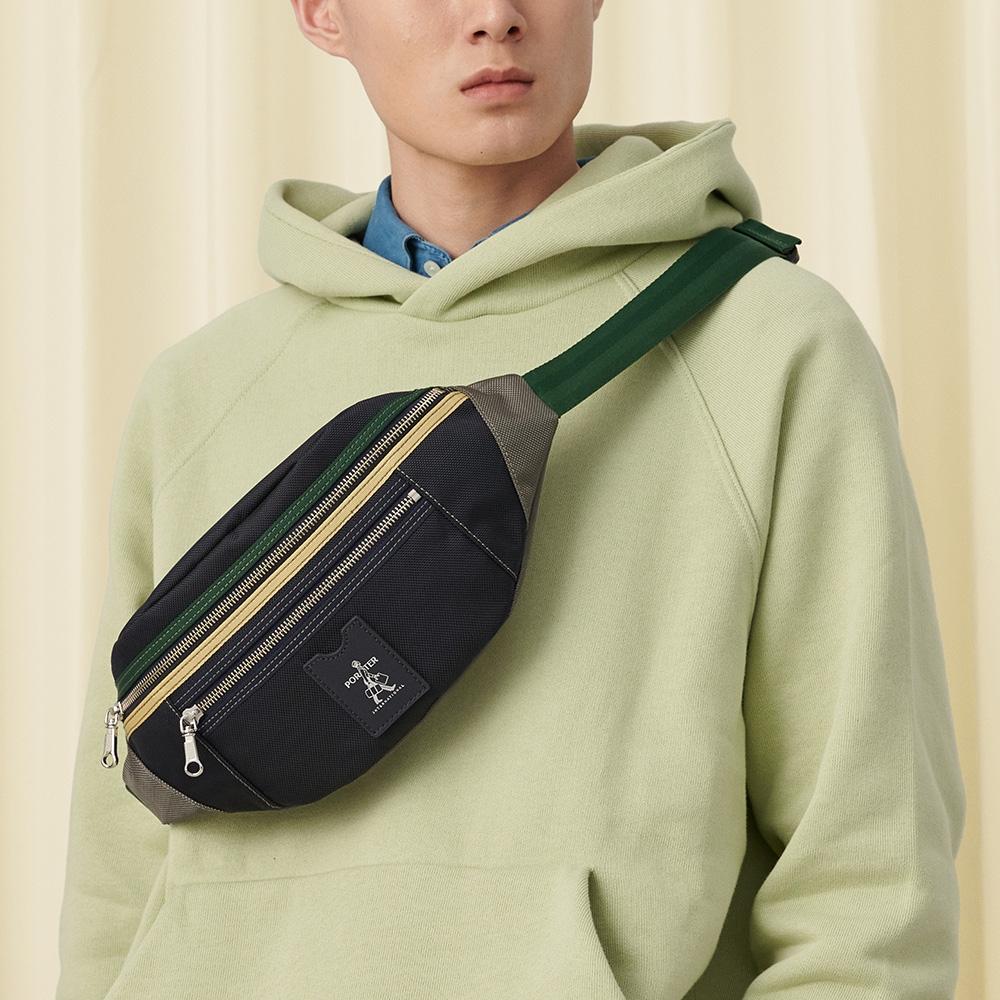 PORTER - 搶眼美學LUXY個性休閒腰包 - 黃配綠