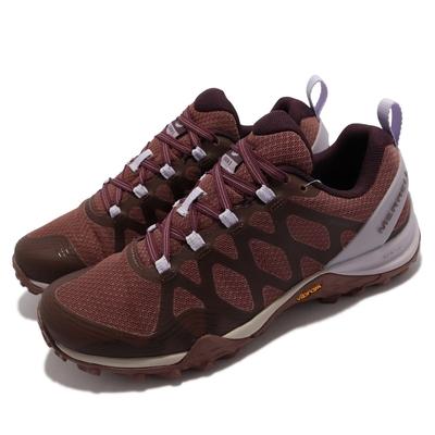 Merrell 戶外鞋 Siren 3 GTX 防水 女鞋 登山 越野 耐磨 黃金大底 緩震 穩定 咖啡 紫 ML036710