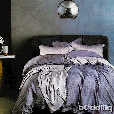 BEDDING-100%天絲萊賽爾-加大薄床包+鋪棉兩用被套四件組-晚雲