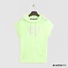 Hang Ten - 女裝- ThermoContro-logo造型連帽短T -綠