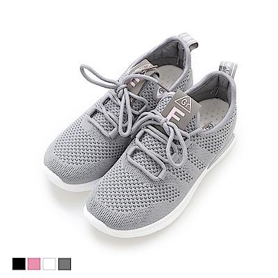 Miaki-休閒鞋.超輕底透氣運動鞋-灰