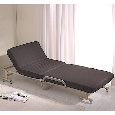 Simple Life免組裝14段折疊床(贈床包)-黑S-22