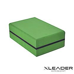 Leader X 環保TPE高密度防滑 高硬度加重瑜珈磚 綠色