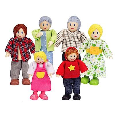 德國Hape愛傑卡-角色扮演娃娃屋 居家系列現代家庭-白人