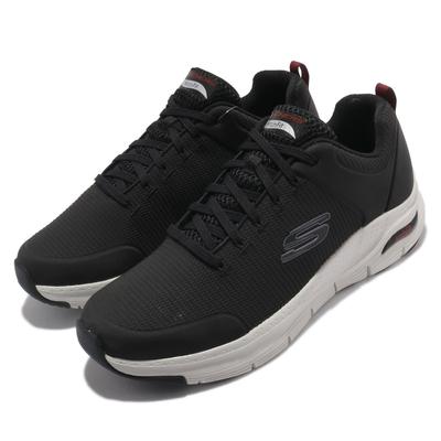 Skechers 休閒鞋 Arch Fit-Titan 運動 男鞋 專利鞋墊 避震 緩衝 回彈 支撐 舒適 黑 紅 232200BKW