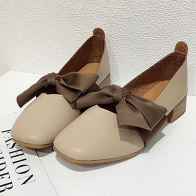 KEITH-WILL時尚鞋館 迷人可愛蝴蝶跟鞋-米色