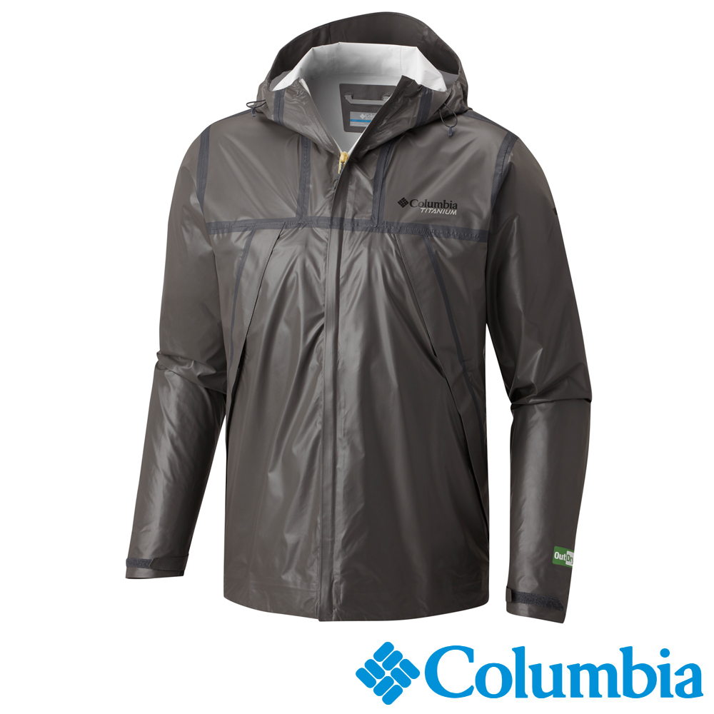 Columbia 哥倫比亞 男款-鈦 Outdry ECO連帽防水外套-深灰 product image 1