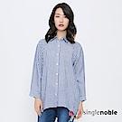獨身貴族 雅痞阿莉夏直條紋魚尾襯衫(2色)