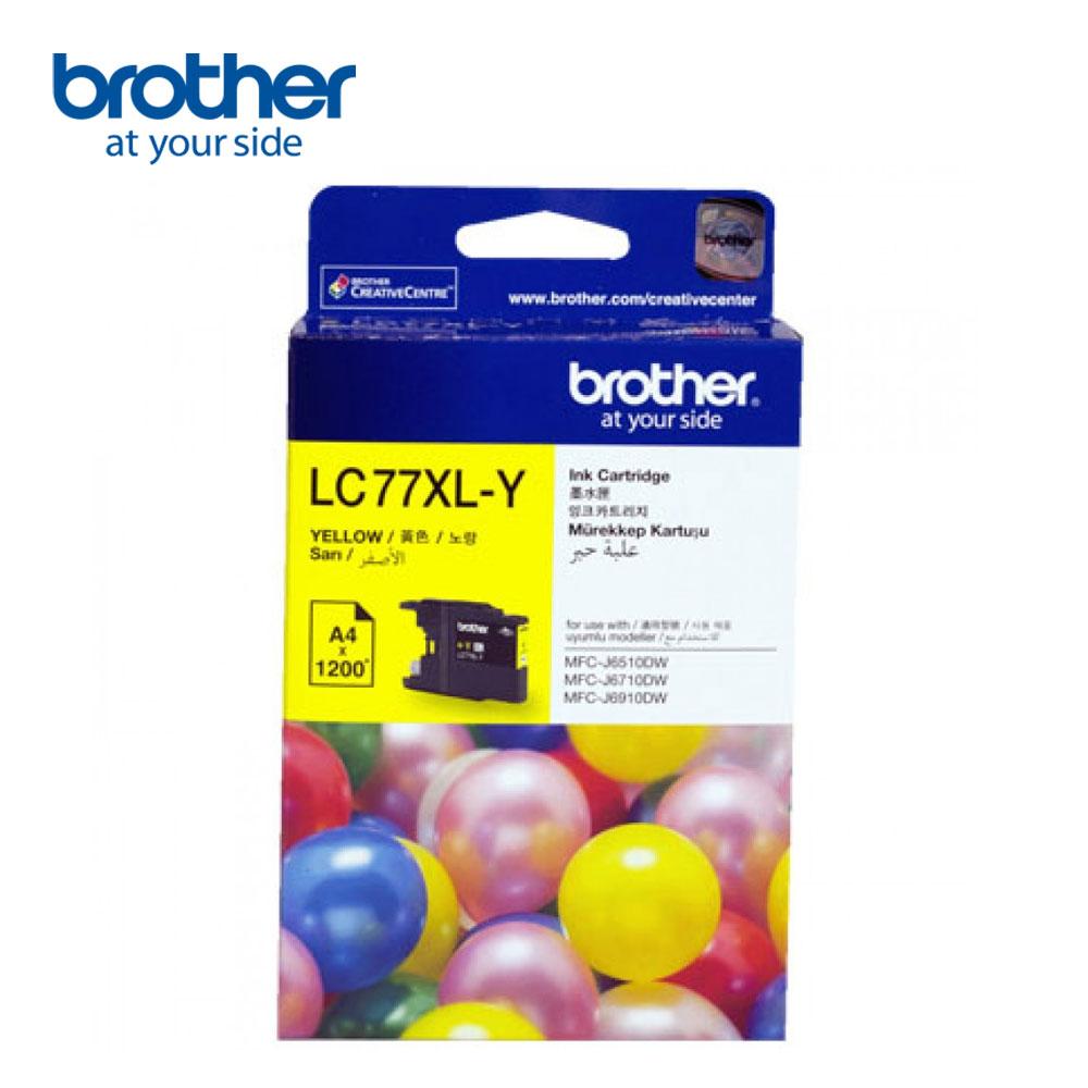 Brother LC77XL-Y 原廠超大容量黃色墨水匣