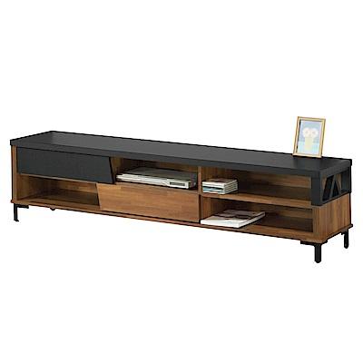 文創集 羅多時尚6尺木紋電視櫃/視聽櫃-180x40x45cm免組