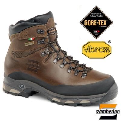 Zamberlan 中性款 高筒防水透氣皮革重裝登山健行鞋_栗棕