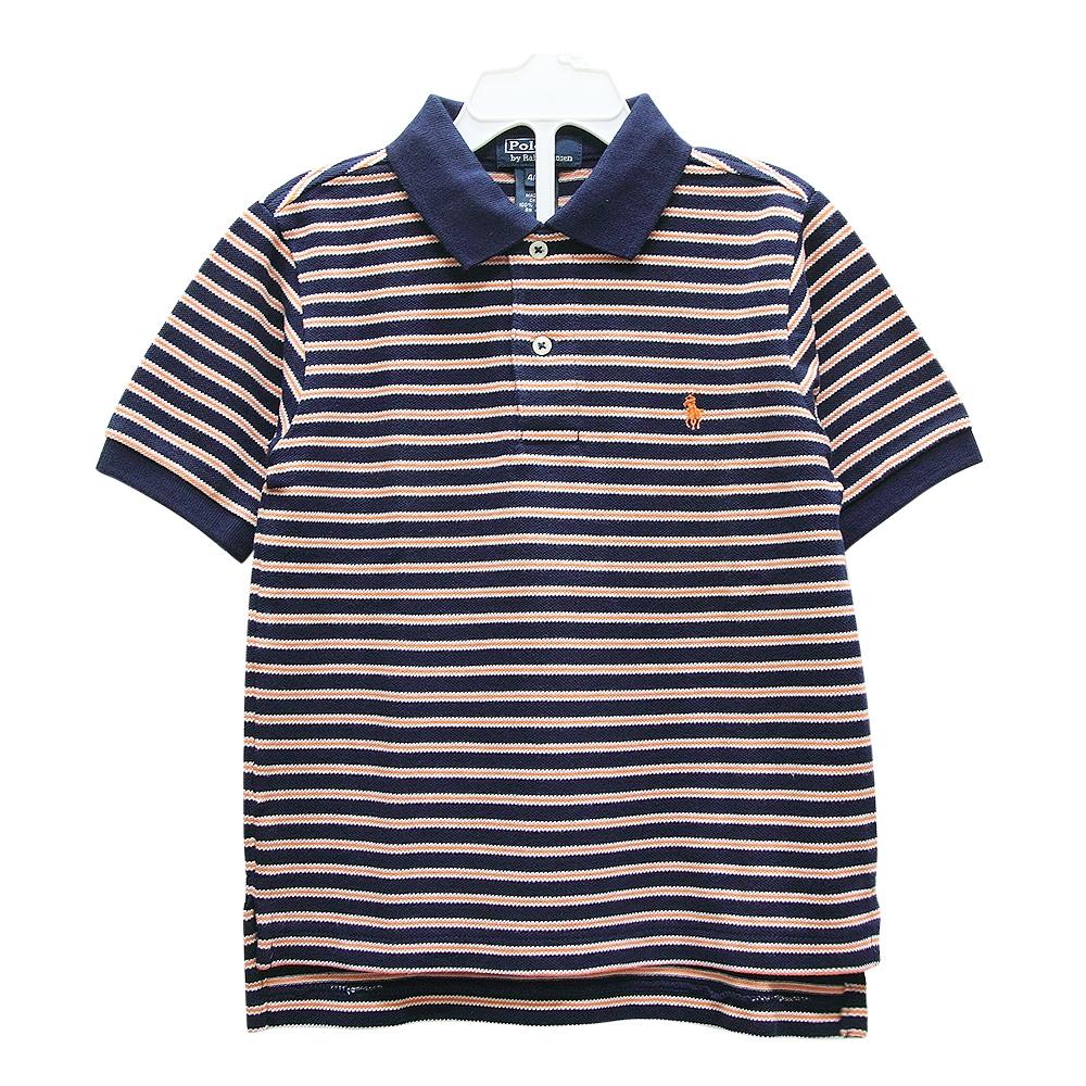 Ralph Lauren 童裝經典條紋短袖POLO衫-深藍色(4歲)