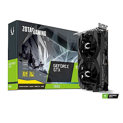 ZOTAC GAMING GeForce GTX 1660 Twin Fan 6GB顯示卡