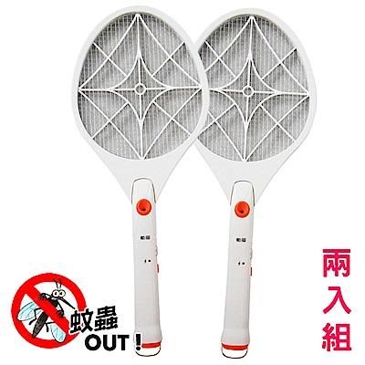 (<b>2</b>入組)勳風 小黑蚊剋星防觸電捕蚊拍電蚊拍(HF-936A)超亮LED燈泡