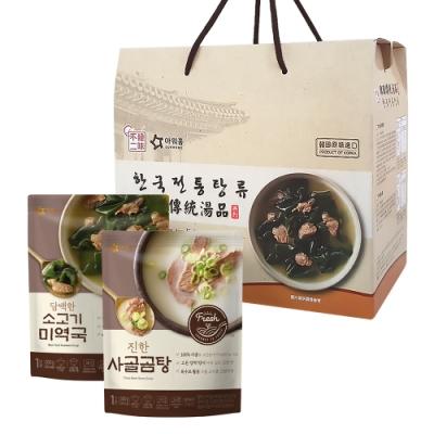 【韓味不二】韓國經典湯品禮盒(7入組)