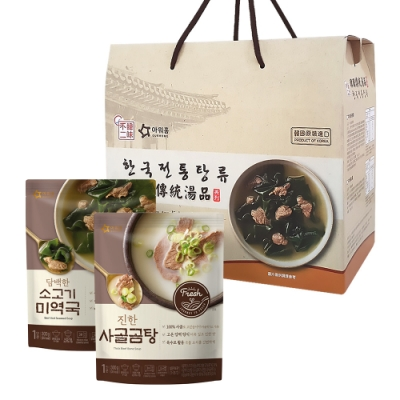 【韓味不二】韓國經典湯品禮盒(任選7入組)