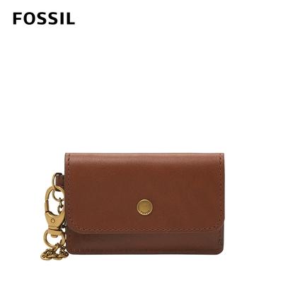 FOSSIL Valerie 真皮卡片包-咖啡色 SL6492200