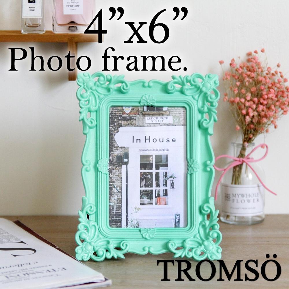 TROMSO皇家巴洛克4x6相框-雕花藍綠