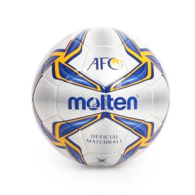 MOLTEN #5頂級合成皮足球 Molten 藍黃白銀