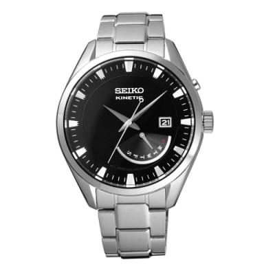 SEIKO 人動電能商務時尚腕錶-銀X黑