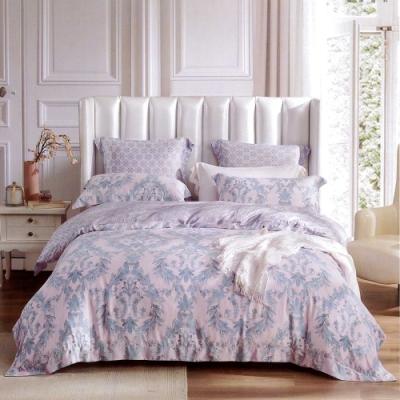 Lily Royal 60支頂級天絲 四件式兩用被床包組 加大 夜之華章粉