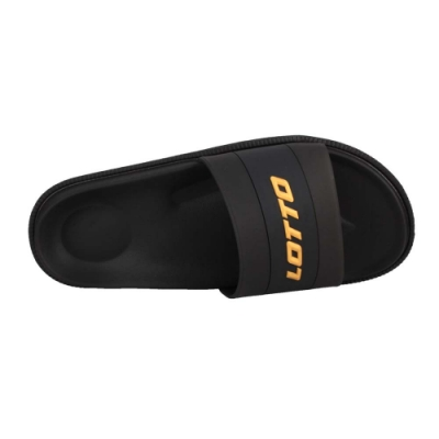 LOTTO 女潮流運動拖鞋-台灣製 海邊 海灘 戲水 游泳 沙灘 LT0AWS2500 黑金