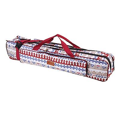 NOMADE 加厚雙層牛津布營柱收納袋 營柱袋 裝備袋 工具袋箱(馬德里紅)