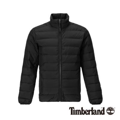 Timberland 男款黑色立領拉鍊羽絨外套 A1NDQ