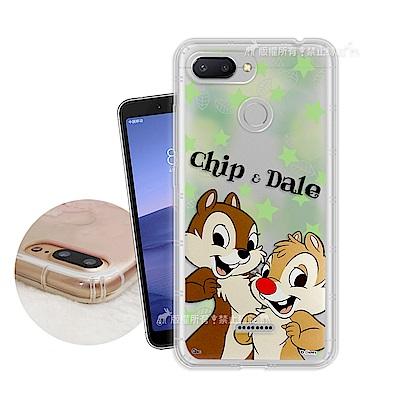 迪士尼授權正版 紅米6 繽紛空壓安全手機殼(奇奇蒂蒂)